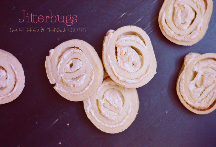Jitterbugs - Shortbread & Meringue Cookies via bananabloom.com