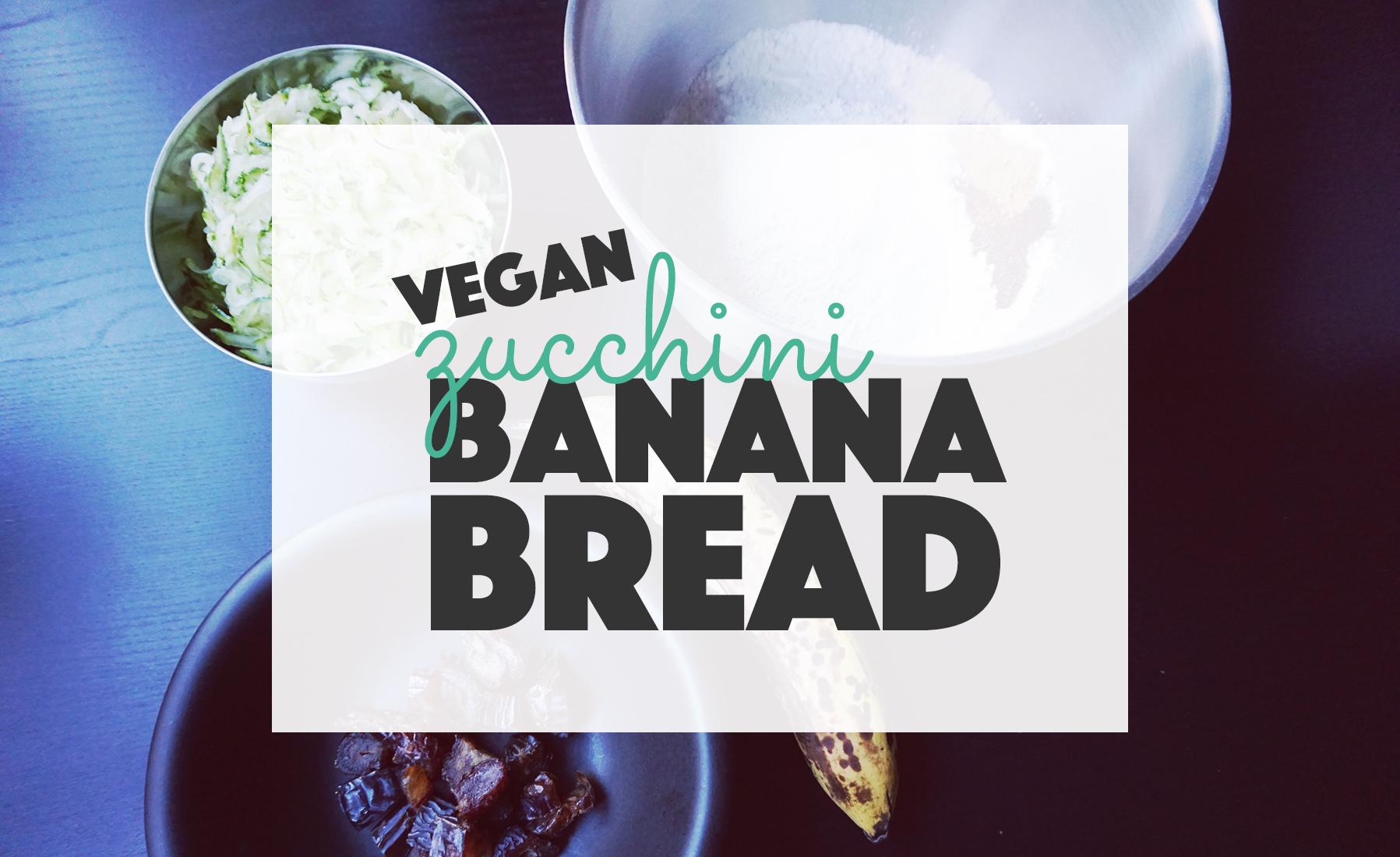 Vegan Zucchini Banana Bread // http://BananaBloom.com #vegan #glutenfree #bread