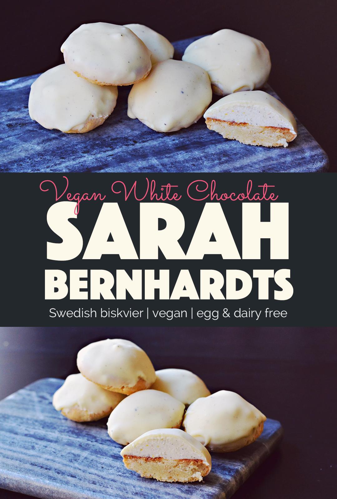 Vegan White Chocolate Biskvier Sarah Bernhardts |http://BananaBloom.com