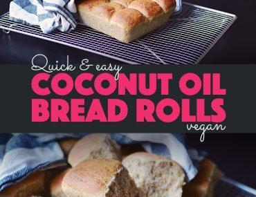 Quick Coconut Oil Bread Rolls (Vegan) |http://BananaBloom.com