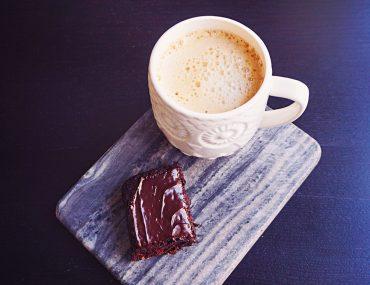 Gluten Free, Dairy Free, Vegan Dark Chocolate Glazed Cake