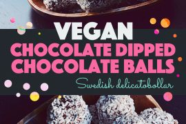 Chocolate Dipped Chocolate Balls | http://BananaBloom.com