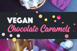Vegan Chocolate Caramels | http://BananaBloom.com