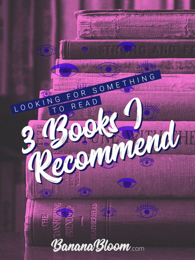 Looking for something to read –Here's 3 books I recommend